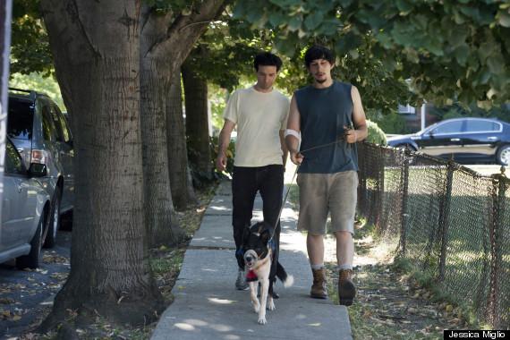 "Adam and Ray Walking ""Dog"""