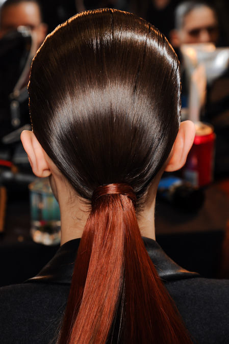 Red Ponytail at Alexander Wang Fall 2013