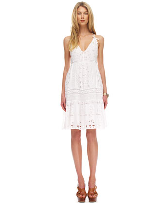 MICHAEL Michael Kors Sleeveless Eyelet Dress-$160.00