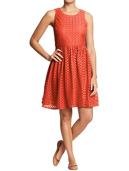 Old Navy Mixed-Eyelet Dress-$34.94