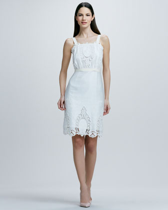 Rachel Roy Sleeveless Eyelet Lace Dress-$398.00