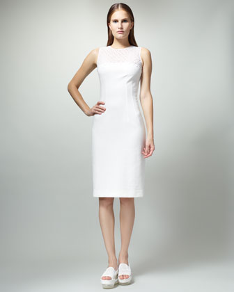Stella McCartney Eyelet Top Sheath Dress-$1,330.00