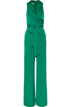 Catherine Malandrino Stretch Silk-Blend Jumpsuit - $395