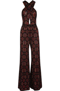 M Missoni Wide Leg Cotton Blend Crochet-Knit Jumpsuit- $1,095