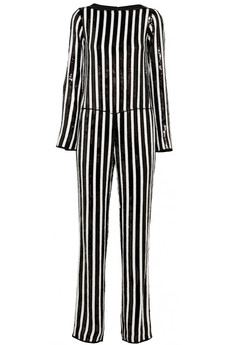 Marc Jacobs Striped Sequined Chiffon Jumpsuit (From Spring 2013 Runway)