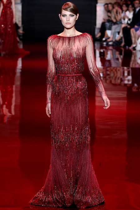 Elie Saab, Fall 2013 Haute Couture, Look 1  Photo: Marcus Tondo/InDigital/GoRunway found on www.style.com
