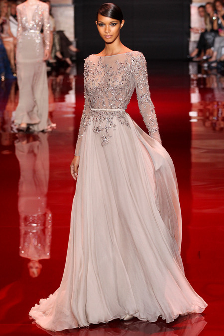 Elie Saab, Fall 2013 Haute Couture, Look 10  Photo: Marcus Tondo/InDigital/GoRunway found on www.style.com