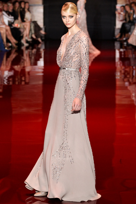 Elie Saab, Fall 2013 Haute Couture, Look 11  Photo: Marcus Tondo/InDigital/GoRunway found on www.style.com