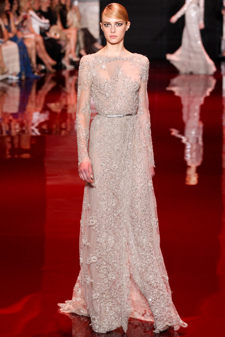 Elie Saab, Fall 2013 Haute Couture, Look 12  Photo: Marcus Tondo/InDigital/GoRunway found on www.style.com