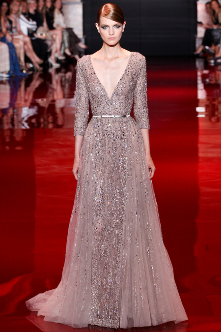Elie Saab, Fall 2013 Haute Couture, Look 13  Photo: Marcus Tondo/InDigital/GoRunway found on www.style.com