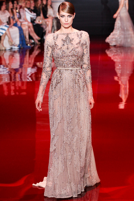 Elie Saab, Fall 2013 Haute Couture, Look 14  Photo: Marcus Tondo/InDigital/GoRunway found on www.style.com