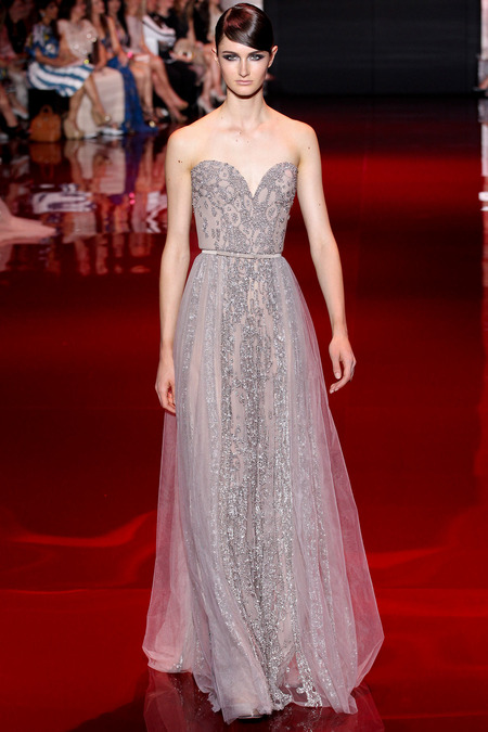 Elie Saab, Fall 2013 Haute Couture, Look 15  Photo: Marcus Tondo/InDigital/GoRunway found on www.style.com