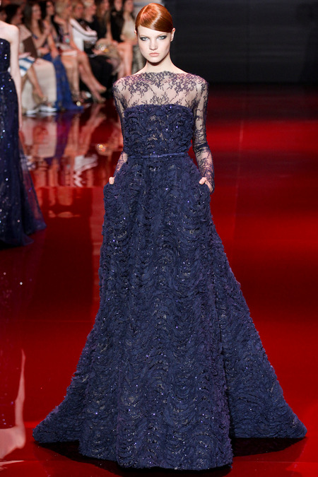 Elie Saab, Fall 2013 Haute Couture, Look 17  Photo: Marcus Tondo/InDigital/GoRunway found on www.style.com