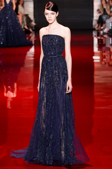 Elie Saab, Fall 2013 Haute Couture, Look 18  Photo: Marcus Tondo/InDigital/GoRunway found on www.style.com