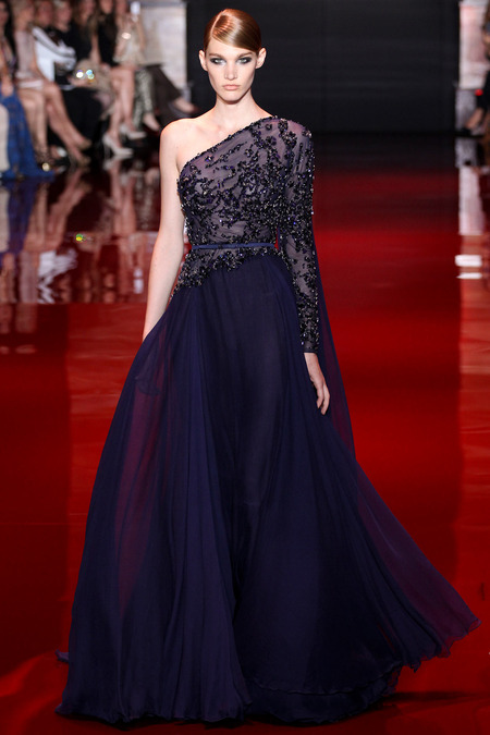 Elie Saab, Fall 2013 Haute Couture, Look 20  Photo: Marcus Tondo/InDigital/GoRunway found on www.style.com