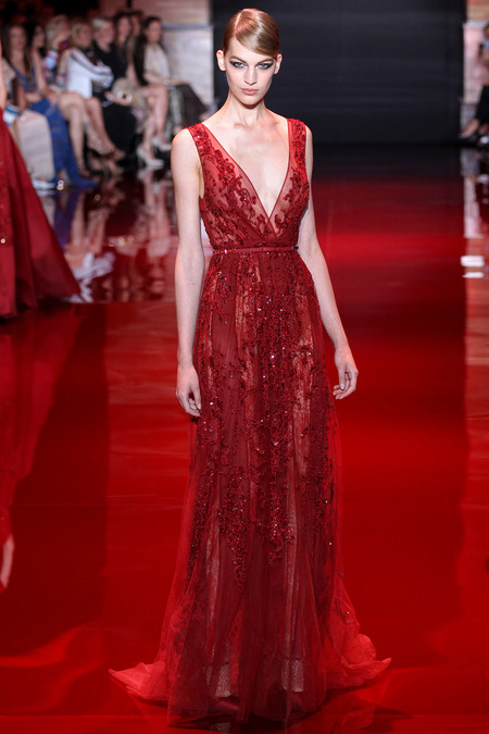 Elie Saab, Fall 2013 Haute Couture, Look 2  Photo: Marcus Tondo/InDigital/GoRunway found on www.style.com