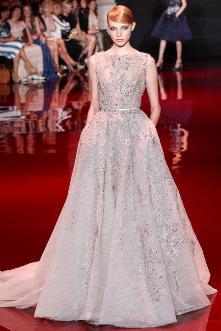 Elie Saab, Fall 2013 Haute Couture, Look 25  Photo: Marcus Tondo/InDigital/GoRunway found on www.style.com