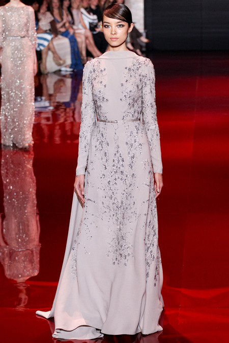 Elie Saab, Fall 2013 Haute Couture, Look 27  Photo: Marcus Tondo/InDigital/GoRunway found on www.style.com