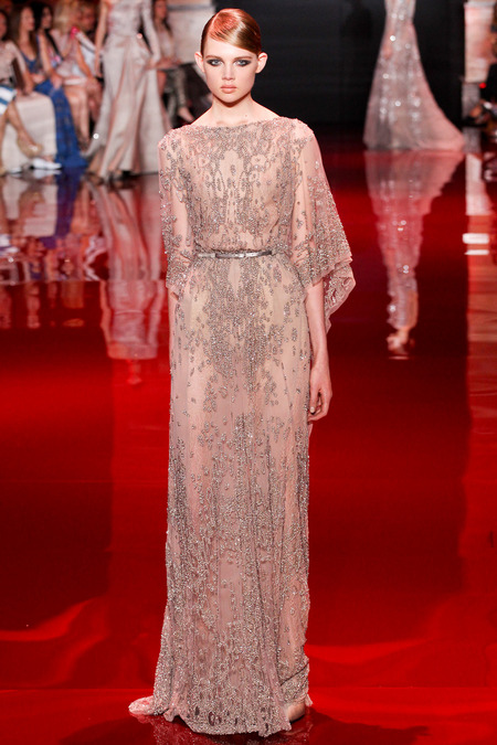 Elie Saab, Fall 2013 Haute Couture, Look 28  Photo: Marcus Tondo/InDigital/GoRunway found on www.style.com