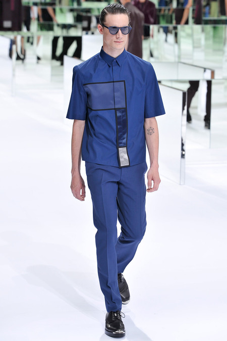 Dior Homme, Spring 2014, Look 29 Photo: Yannis Viamos/InDigital/GoRunway found on www.style.com