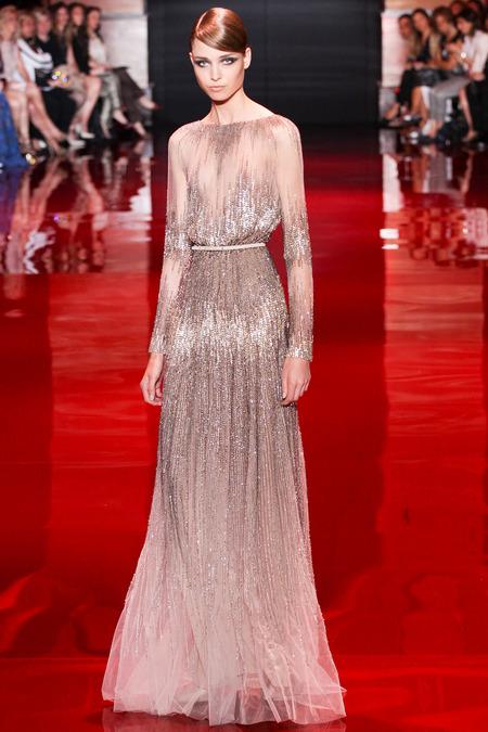 Elie Saab, Fall 2013 Haute Couture, Look 30  Photo: Marcus Tondo/InDigital/GoRunway found on www.style.com