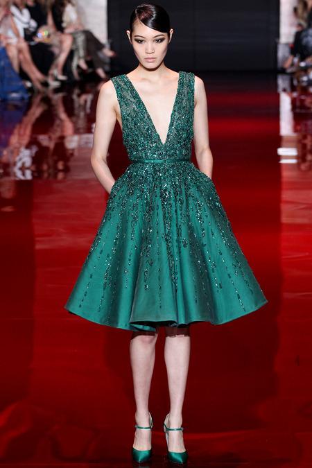 Elie Saab, Fall 2013 Haute Couture, Look 31  Photo: Marcus Tondo/InDigital/GoRunway found on www.style.com