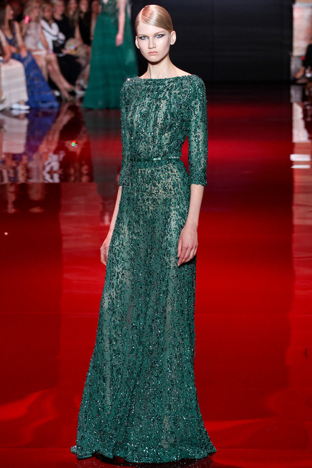 Elie Saab, Fall 2013 Haute Couture, Look 32  Photo: Marcus Tondo/InDigital/GoRunway found on www.style.com
