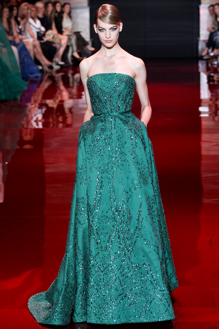 Elie Saab, Fall 2013 Haute Couture, Look 33  Photo: Marcus Tondo/InDigital/GoRunway found on www.style.com