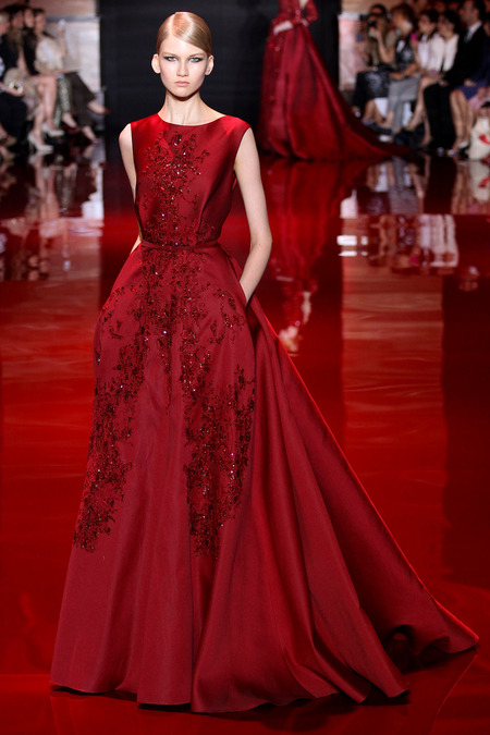 Elie Saab, Fall 2013 Haute Couture, Look 3  Photo: Marcus Tondo/InDigital/GoRunway found on www.style.com
