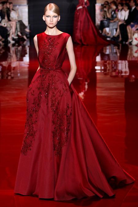 Elie Saab, Fall 2013 Haute Couture, Look 3  Photo: Marcus Tondo/InDigital/GoRunway found on www.style.com