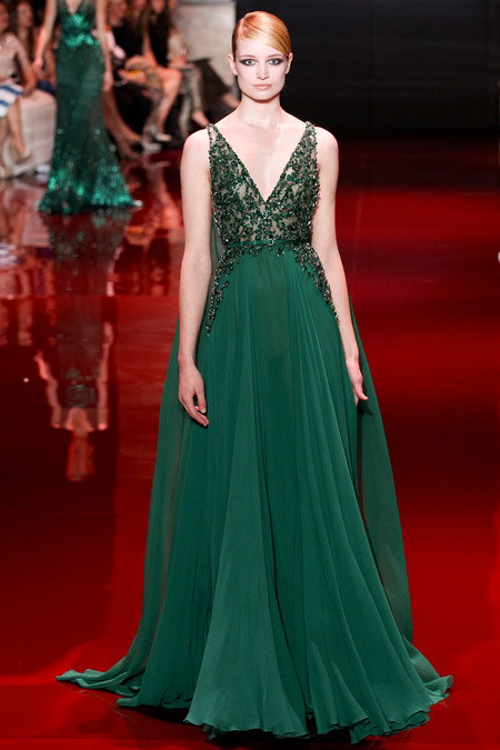 Elie Saab, Fall 2013 Haute Couture, Look 34  Photo: Marcus Tondo/InDigital/GoRunway found on www.style.com
