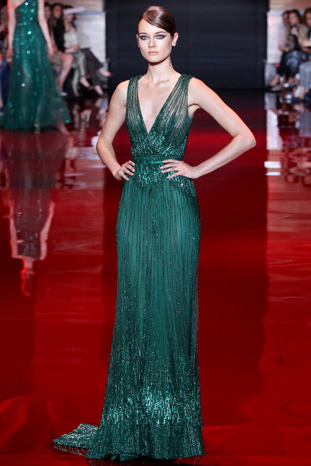 Elie Saab, Fall 2013 Haute Couture, Look 35  Photo: Marcus Tondo/InDigital/GoRunway found on www.style.com