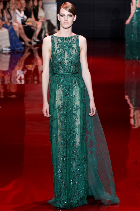 Elie Saab, Fall 2013 Haute Couture, Look 37  Photo: Marcus Tondo/InDigital/GoRunway found on www.style.com
