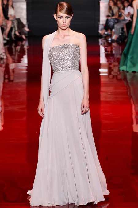 Elie Saab, Fall 2013 Haute Couture, Look 40  Photo: Marcus Tondo/InDigital/GoRunway found on www.style.com