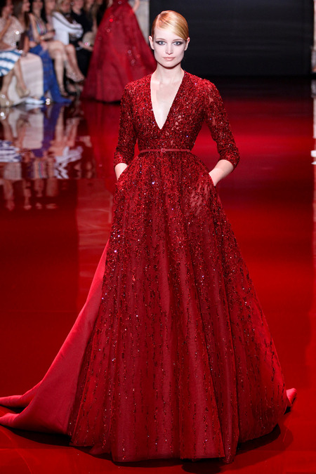 Elie Saab, Fall 2013 Haute Couture, Look 4  Photo: Marcus Tondo/InDigital/GoRunway found on www.style.com