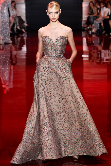 Elie Saab, Fall 2013 Haute Couture, Look 43  Photo: Marcus Tondo/InDigital/GoRunway found on www.style.com