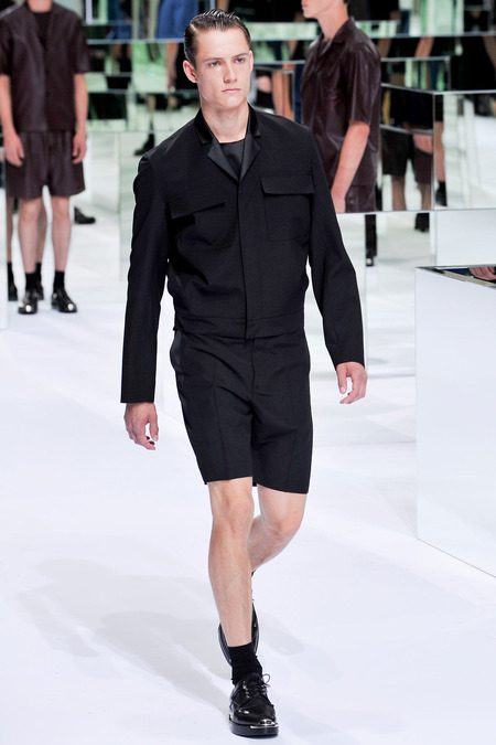 Dior Homme, Spring 2014, Look 45 Photo: Yannis Viamos/InDigital/GoRunway found on www.style.com