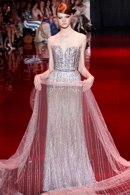 Elie Saab, Fall 2013 Haute Couture, Look 46  Photo: Marcus Tondo/InDigital/GoRunway found on www.style.com