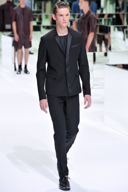 Dior Homme, Spring 2014, Look 48 Photo: Yannis Viamos/InDigital/GoRunway found on www.style.com