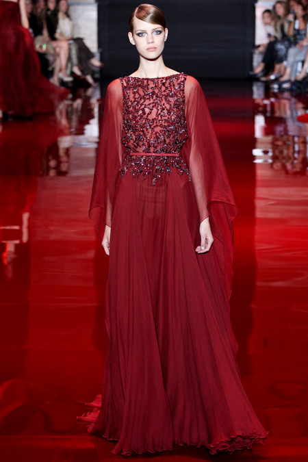 Elie Saab, Fall 2013 Haute Couture, Look 6  Photo: Marcus Tondo/InDigital/GoRunway found on www.style.com