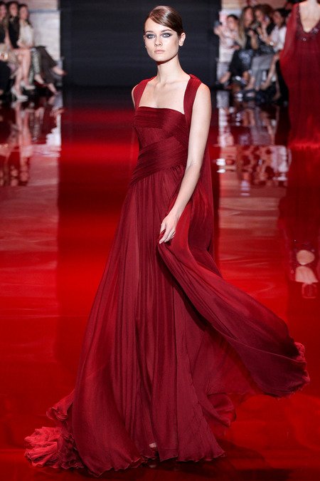Elie Saab, Fall 2013 Haute Couture, Look 7  Photo: Marcus Tondo/InDigital/GoRunway found on www.style.com