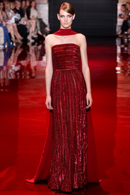 Elie Saab, Fall 2013 Haute Couture, Look 8  Photo: Marcus Tondo/InDigital/GoRunway found on www.style.com