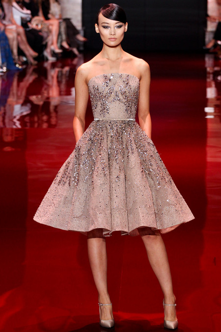 Elie Saab, Fall 2013 Haute Couture, Look 9  Photo: Marcus Tondo/InDigital/GoRunway found on www.style.com