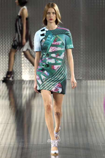 Bomfared, Mary Katrantzou, Spring 2014, Look 10  Photo: Marcus Tondo/Indigitalimages.com