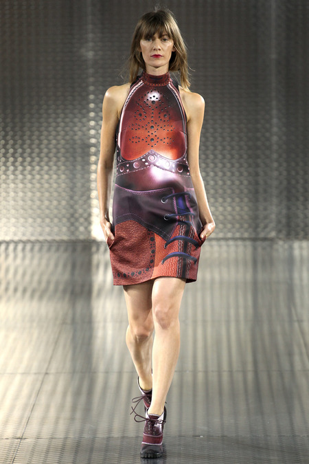 """Tamale"", Mary Katrantzou, Spring 2014, Look 1  Photo: Marcus Tondo/Indigitalimages.com"