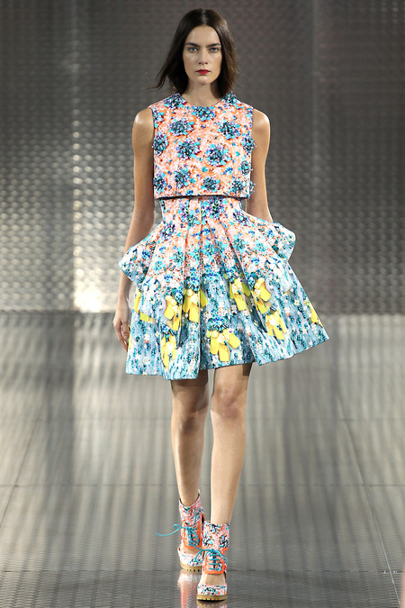 Silverfloss, Mary Katrantzou, Spring 2014, Look 19  Photo: Marcus Tondo/Indigitalimages.com