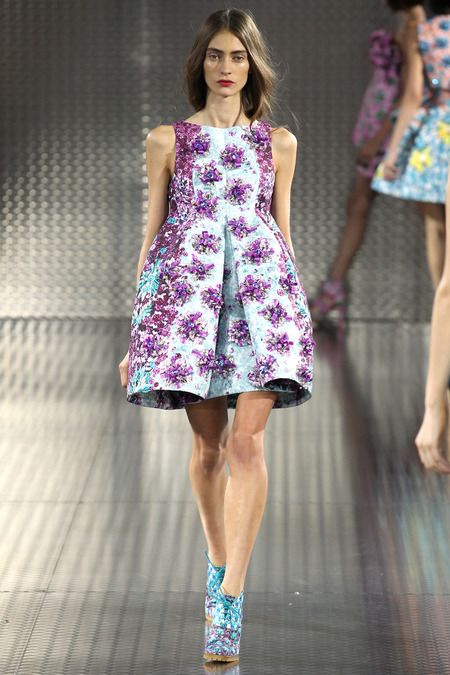 Ponker, Mary Katrantzou, Spring 2014, Look 21  Photo: Marcus Tondo/Indigitalimages.com