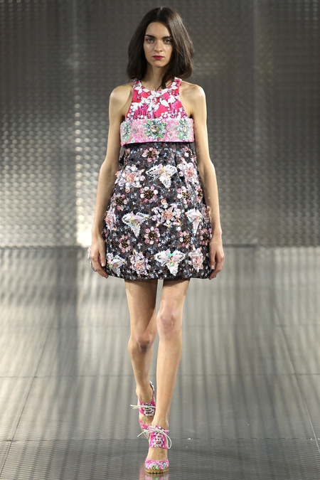 Pinkimon, Mary Katrantzou, Spring 2014, Look 23  Photo: Marcus Tondo/Indigitalimages.com