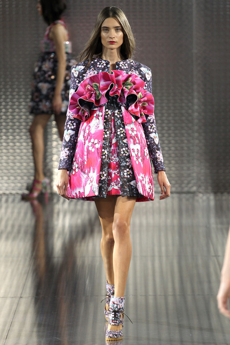 Faby Hola, Mary Katrantzou, Spring 2014, Look 25  Photo: Marcus Tondo/Indigitalimages.com
