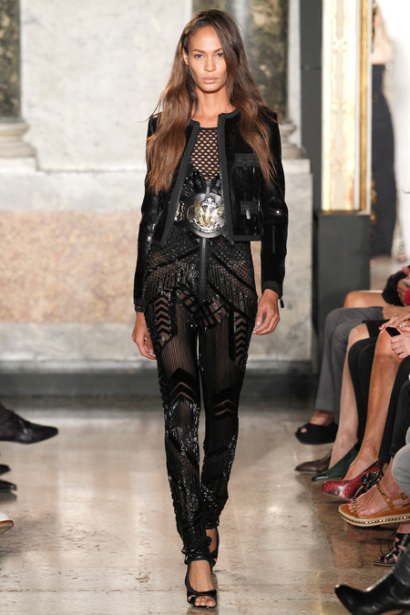 Emilio Pucci, Spring 2014, Look 40, Joan Smalls Photo: Monica Feudi/Feudiguaineri.com